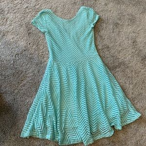 Teal Aeropostale dress with a low back